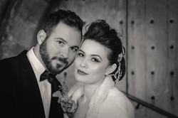 Hollywood wedding bride and groom