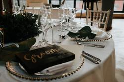 Geometric wedding table setting