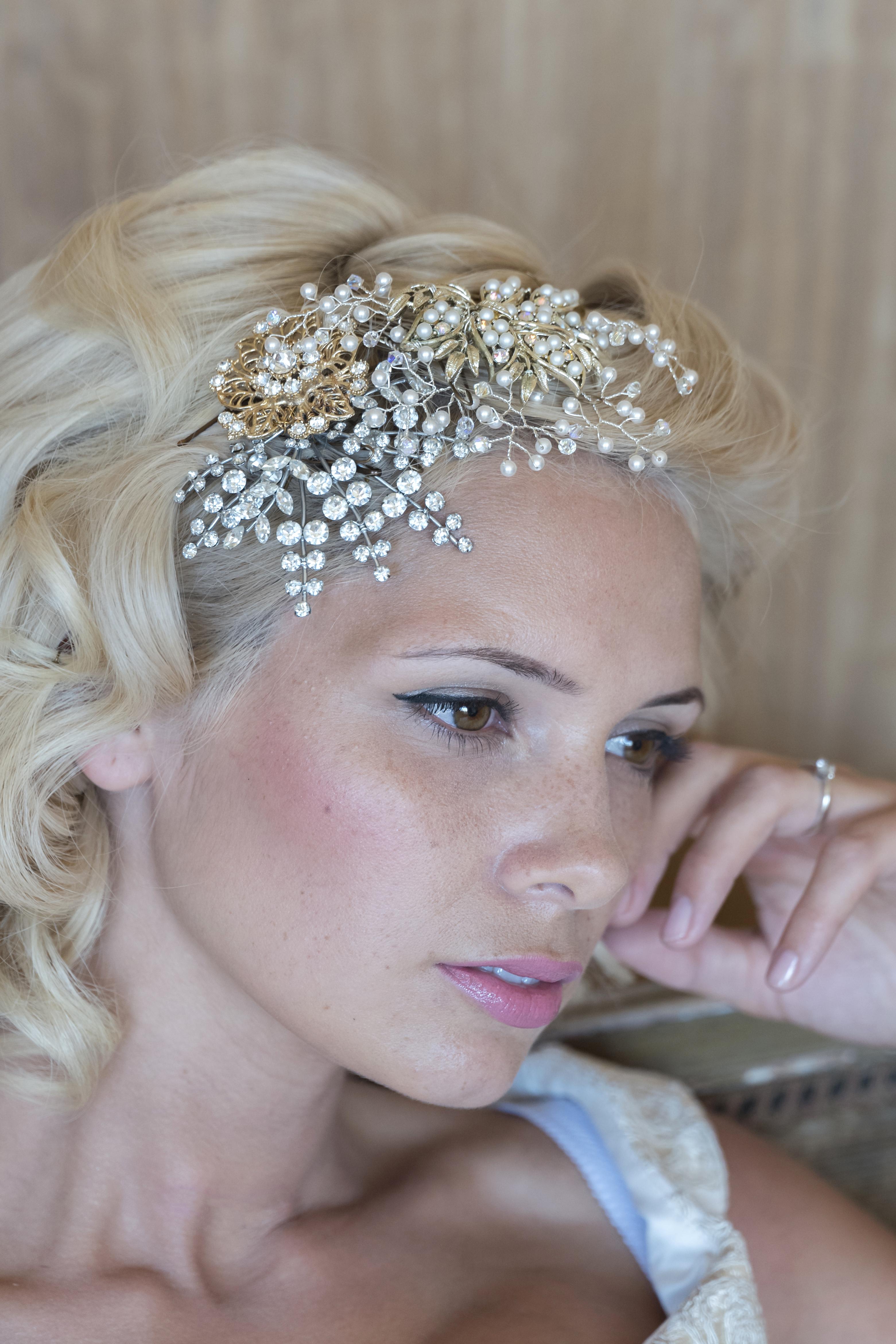 1950s wedding hair accessory