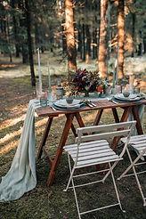 woodland wedding breakfast table