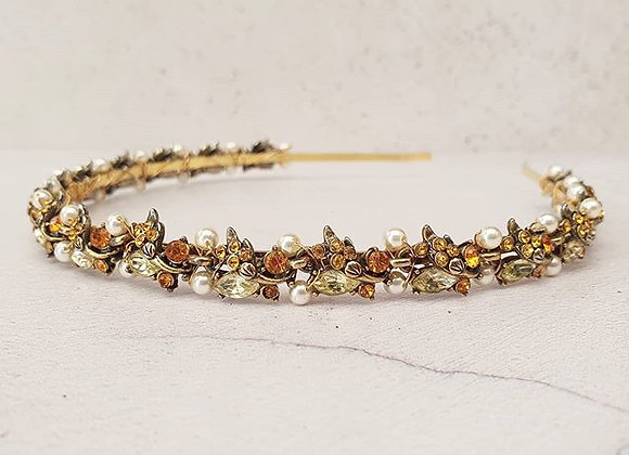 Vintage golden full headband