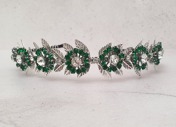 Green Deco Leaf Headband