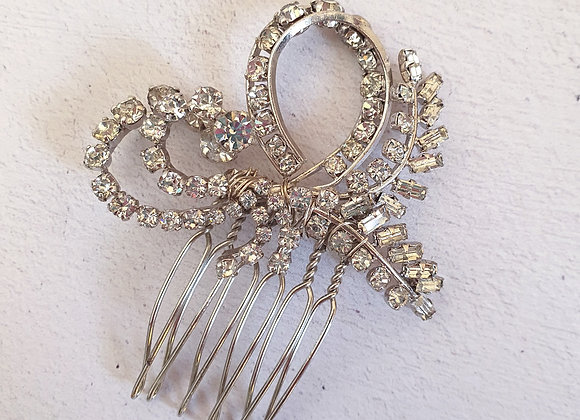 Small Vintage diamante comb