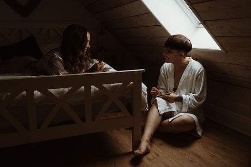 vow writing together at intimate elopement wedding