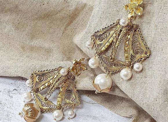Statement vintage earrings