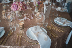 Dreamy and romantic table setting