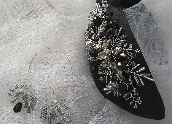 Black Silk Knotted Headband