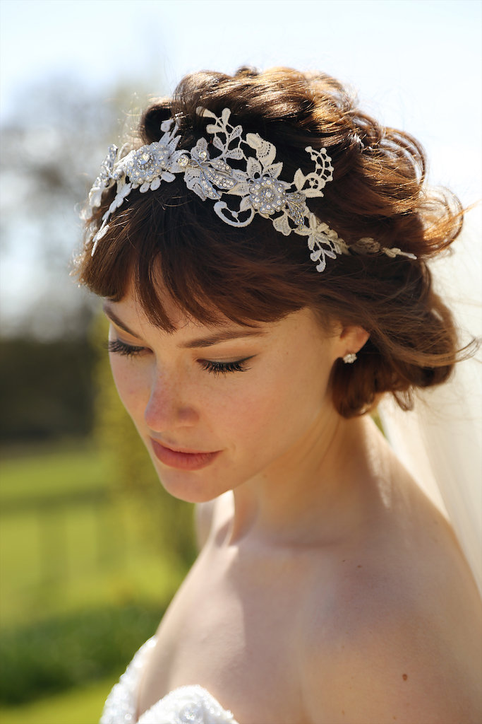 Summer wedding lace hair accessory