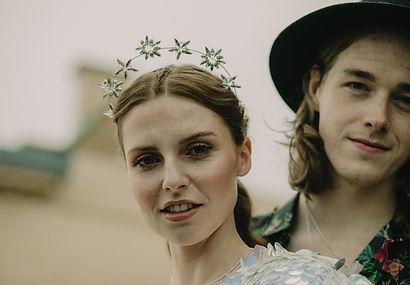 bridal star halo head band crown handmade in Devon