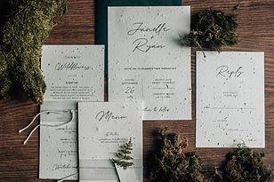 rustic wedding stationery for a woodland wedding