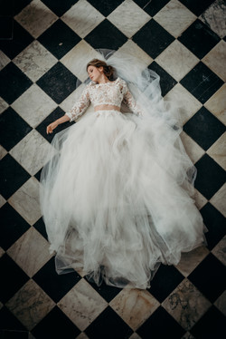 Vintage Lux wedding dress