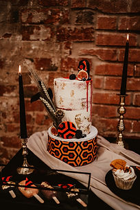 The shining inspired drip wedding cake