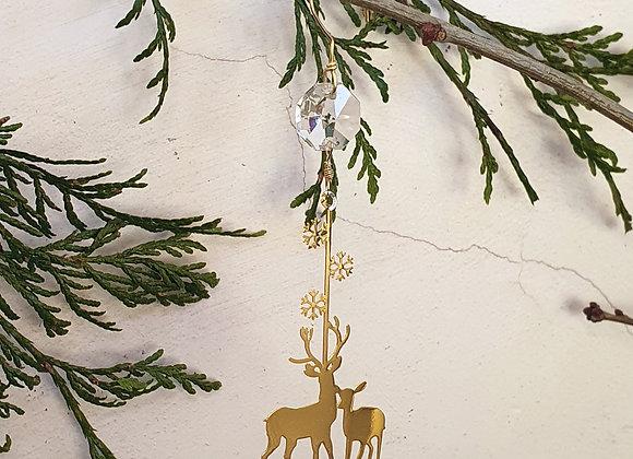 reindeer crystal tree decoration