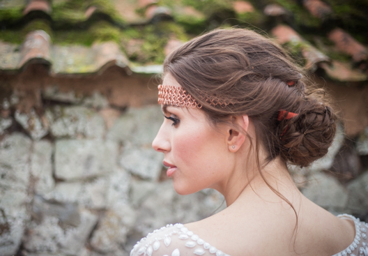 Autumn copper wedding head chain