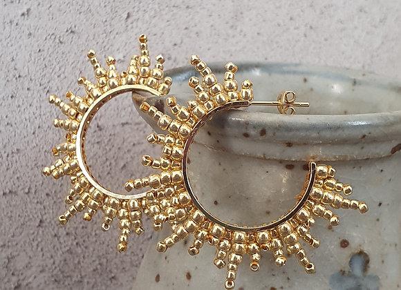 Solar earrings