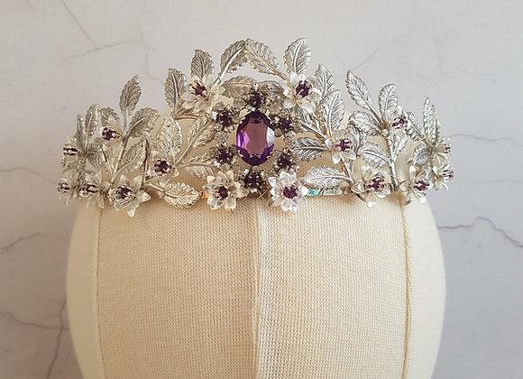 Aged silver tone vintage original crown