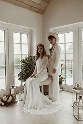couples wedding portrait