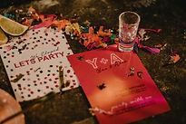 bold and bright wedding stationery