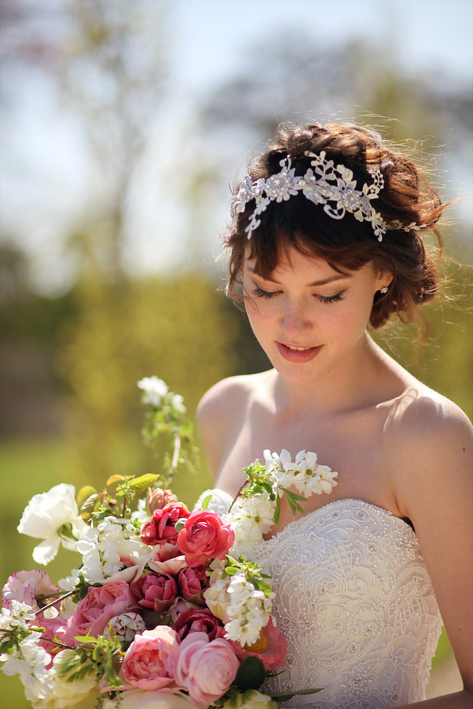 Summer wedding hair accessory