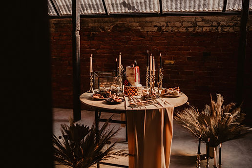 Shak revolution urban venue styled with edgy 80s cult classic vibes