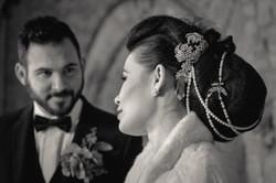 Hollywood wedding hair accessories