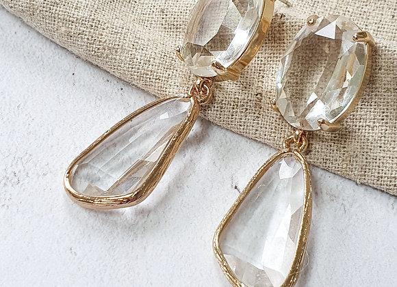 Statement glass earrings