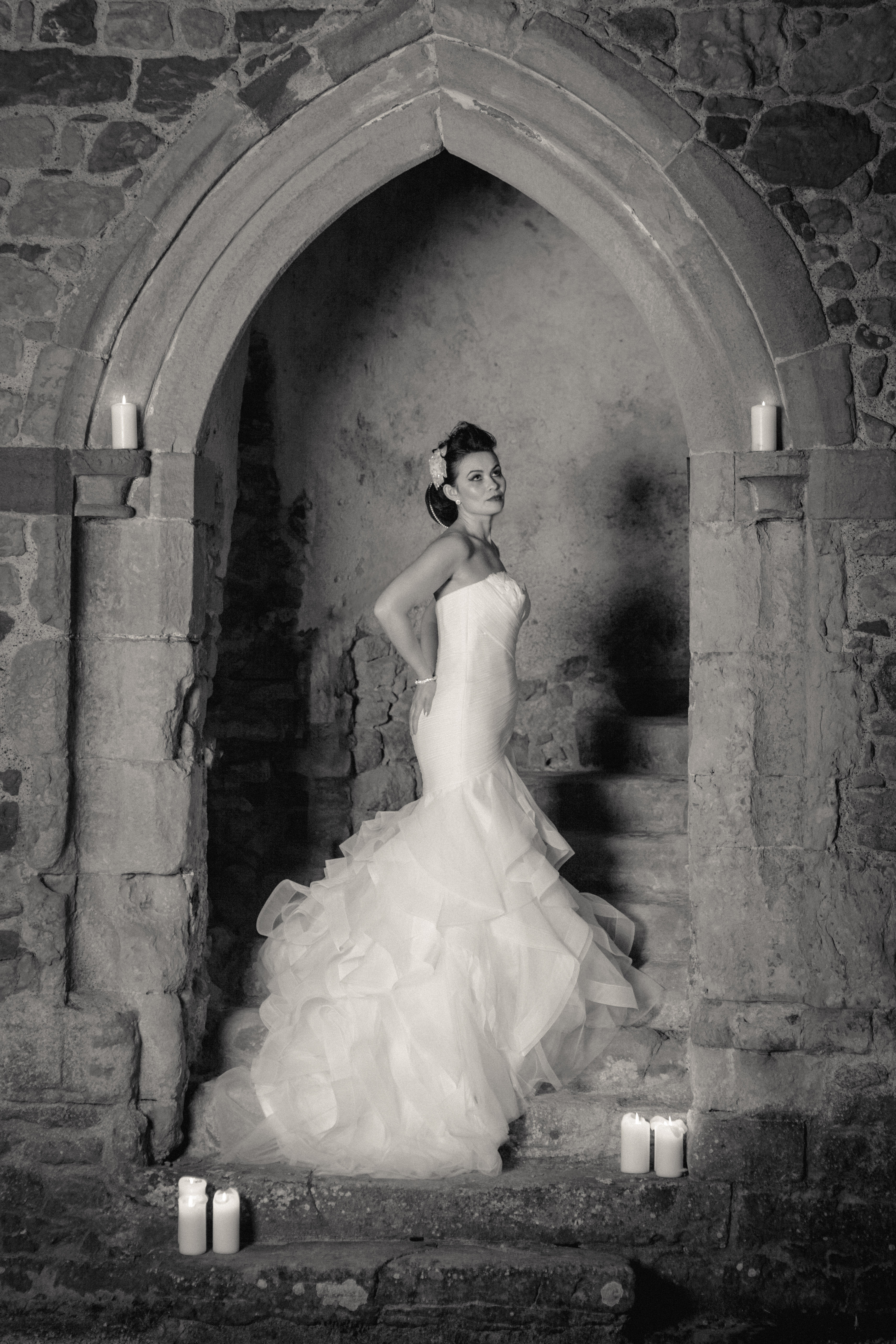 Hollywood wedding bridal dress