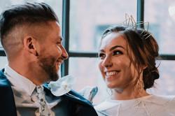Geometric wedding side tiara