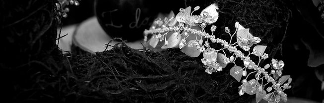 vintage pearl leaf hair vine handmade by The Lucky Sixpence