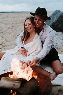 couples portrait on a beach