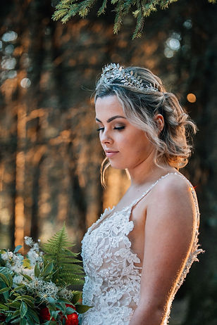 bridal crown with silver leaves and vintage crystals handmade by the lucky sixpemnce from her Devon based studio
