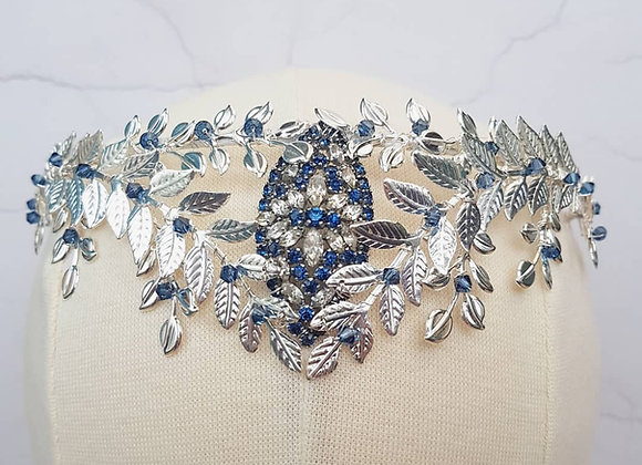 Blue 'upside down' crown