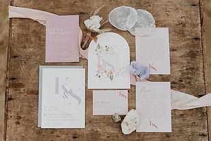 chic elopement wedding stationery