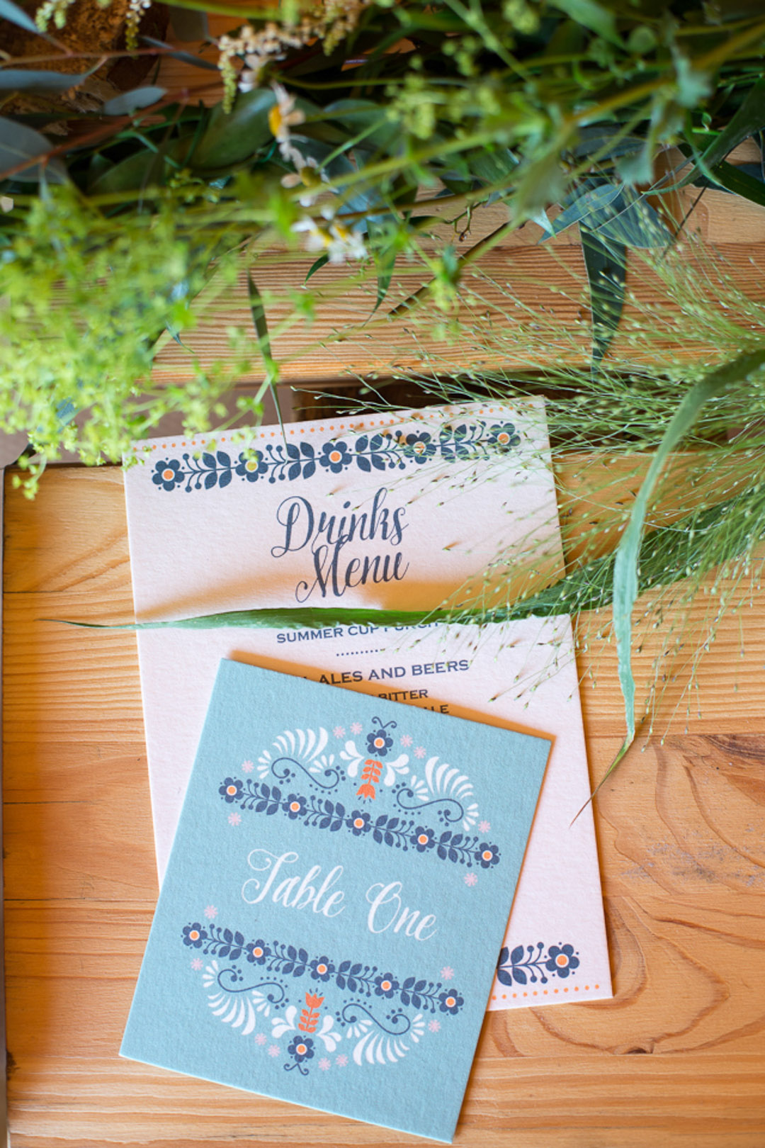 Scandi boho wedding stationery