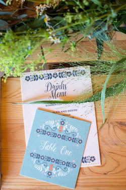 Scandi boho wedding stationery