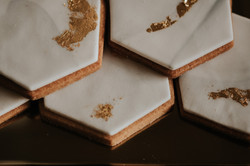 Geometric wedding sweet treats