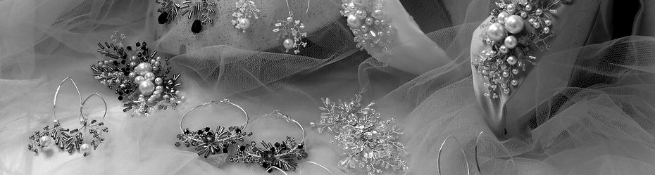 fresh modern hair headbands and jewellery delicately beaded with Swarovski pearls and crystals