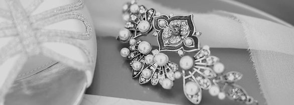 deco inspired headpieces and jewellery handmade by The Lucky Sixpence in her Devon studio