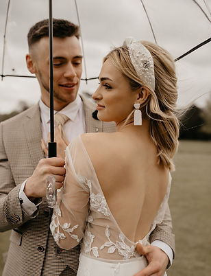Modern bridal satin headband with vintage original detailing and Swarovski beading