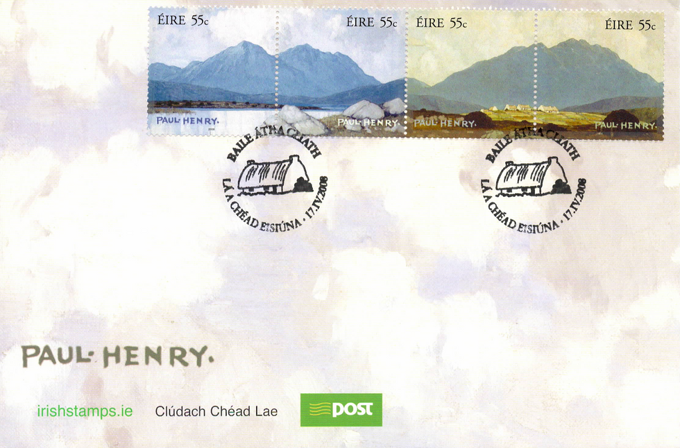Paul Henry stamps An Post