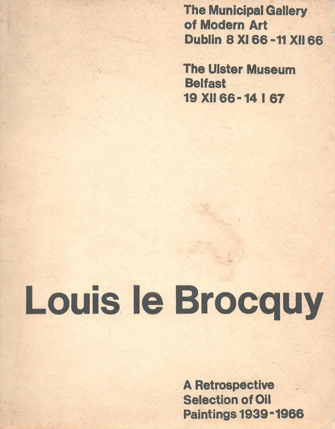 Louis le Brocquy The Municipal Gallery o