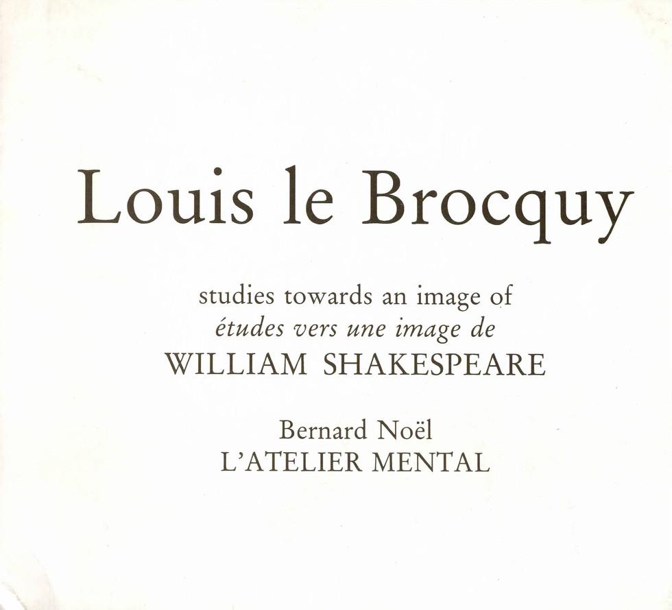 Louis le Brocquy Bernard Noel Galerie Je