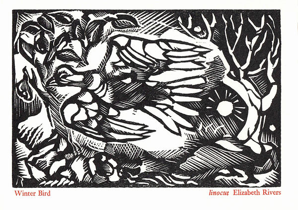 Elizabeth Rivers Winter Bird Card