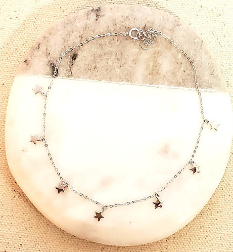 All Mini Star Sterling Silver .925 Anklet