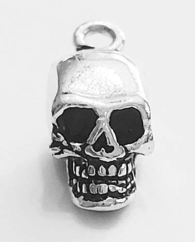 Mini Skull Sterling Silver Endless Hoop Earring 14mm hoop