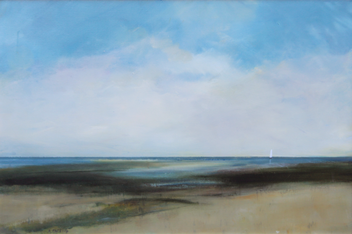 Anne Packard - Shoreline Sail - Giclee