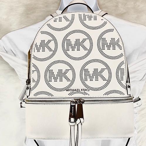 MK Optic White Rhea Zip Backpack