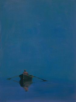 Anne Packard - Rowboat on Blue 2 - gicle