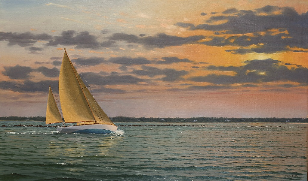 Sergio Roffo - In at Sunsrise 18 x 30.jp