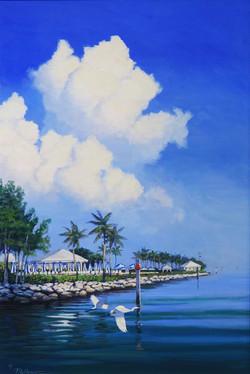 Michael Hoffman - The Point, acrylic on